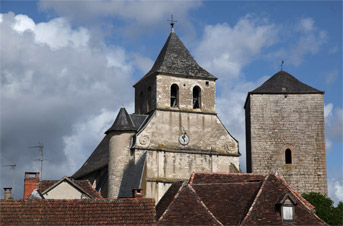 Eglise Saint Georges et la tour de Floirac Lot